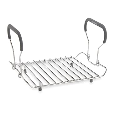Durable Expandable Roasting Rack w/ Silicone Covered Handles by Real Simple