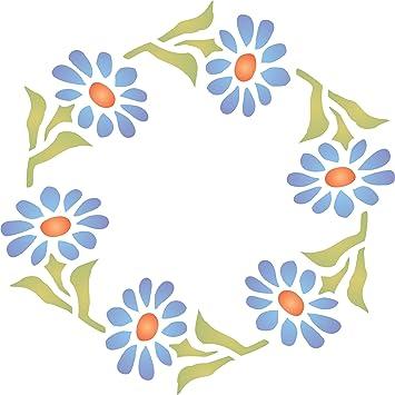 Corona de Gerber Daisy plantilla – reutilizable de pared plantillas para pintar – mejor calidad ideas