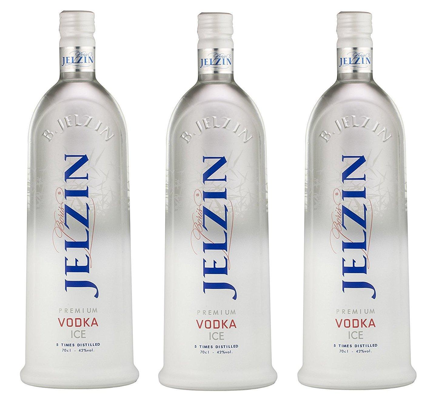 Jelzin Vodka Ice Premium (3 x 0.7 l): Amazon.de: Bier, Wein ...