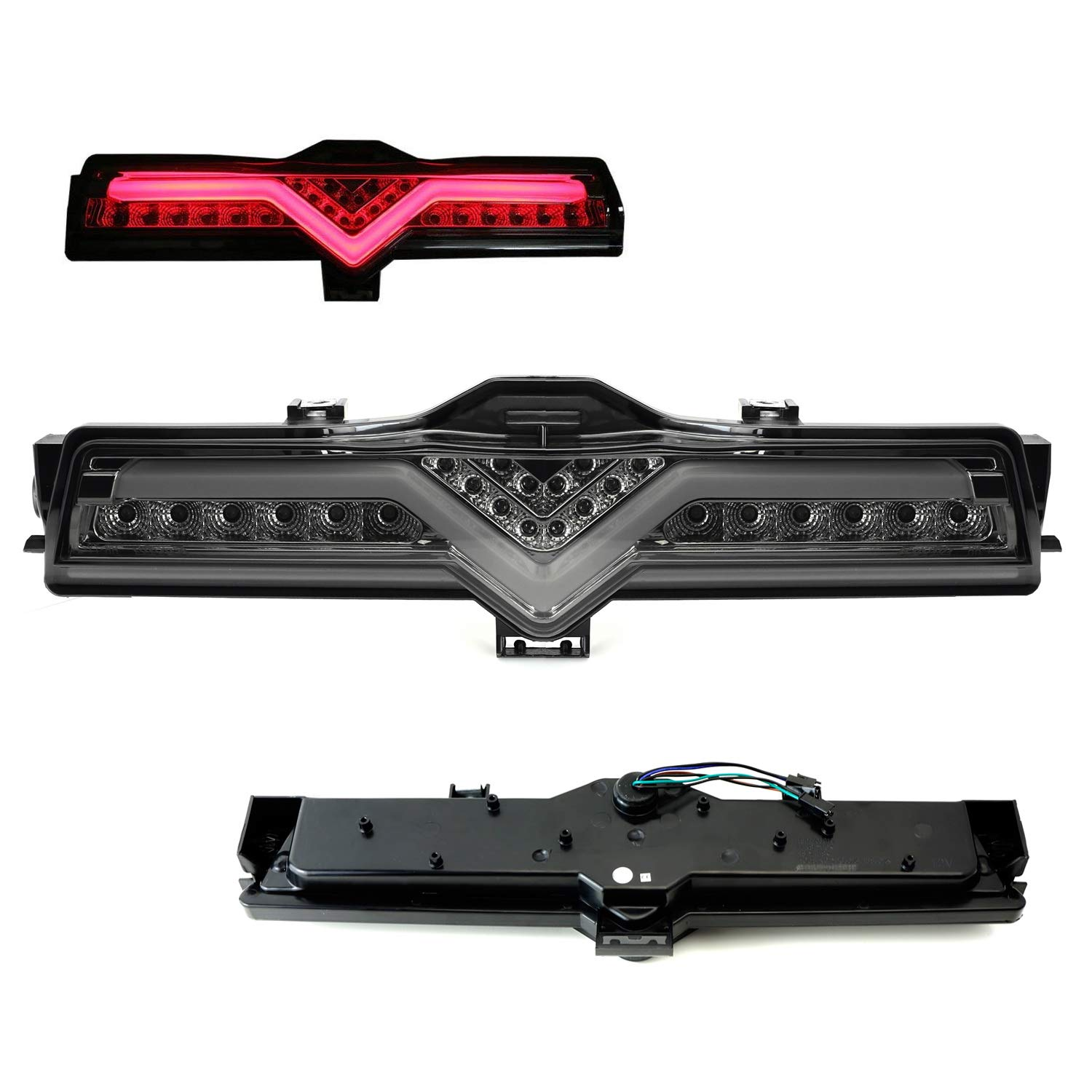 17-up Toyota 86 13-18 Subaru BRZ All-in-One Assembly Functions as Tail Light iJDMTOY Smoked Lens AIO LED Rear Foglamp Kit For 13-16 Scion FR-S Brake Light /& Backup Reverse Light iJDMTOY Auto Accessories Upgrade for US model w//o rear fog lamp