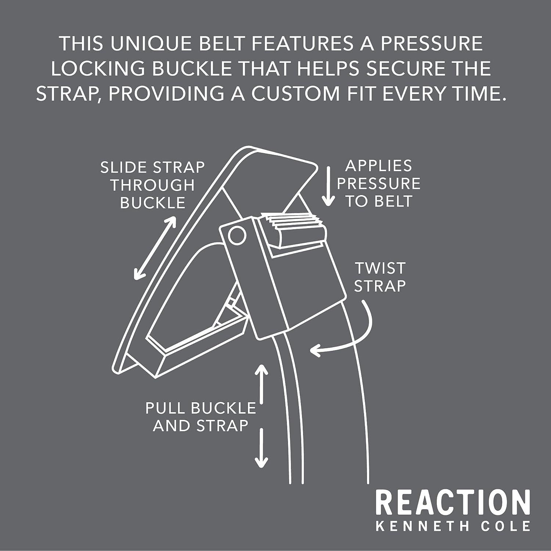 Kenneth Cole REACTION Mens 1.3 in Wide Adjustable Compression Perfect Fit Slide Belt