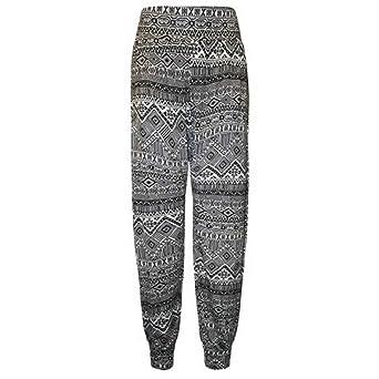 Girls Full Camo Print Harem Ali Baba Trousers Kids Pants New Child Age 7-13 Year
