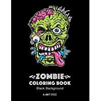 Zombie Coloring Book: Black Background: Midnight Edition Zombie Coloring Pages for Everyone, Adults, Teenagers, Tweens…