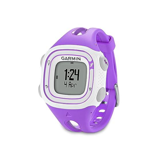 Garmin Forerunner 10 >> Amazon Com Garmin Forerunner 10 Gps Watch Violet Cell Phones