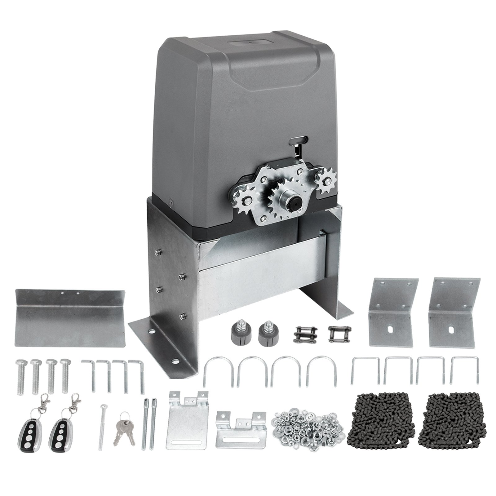 VEVOR Sliding Gate Opener Door Operator Kit Automatic Electric Hardware Up to 3300LBS Gate Opener with Wireless Remotes(SL1500ACL)