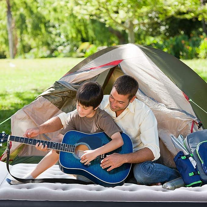 Amazon.com: Sable Camping colchón de aire inflable, cama ...