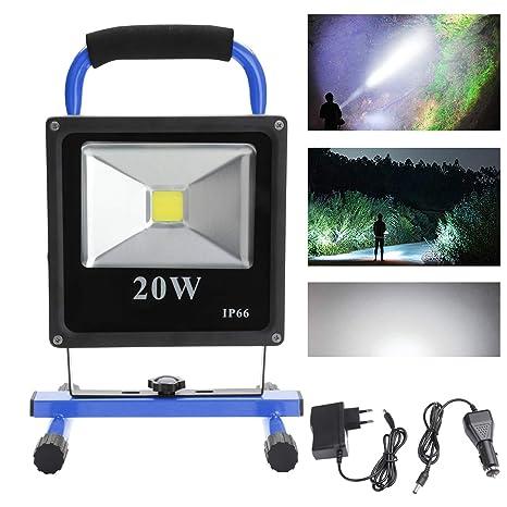 20W COB LED Arbeitsleuchte Baustrahler AKKU Fluter Handlampe Strahler Floodlight
