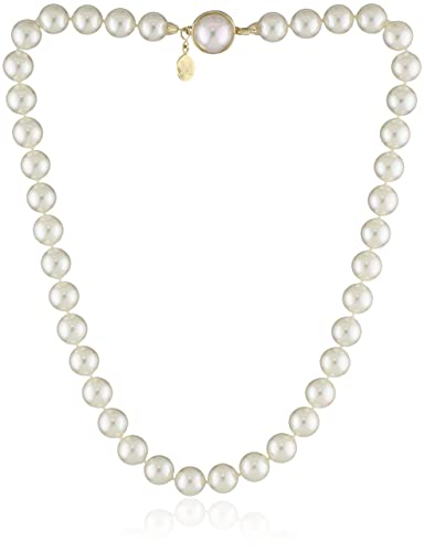 b5c9606e7 Amazon.com: Majorica Single-Row White Simulated Pearl (10mm) Necklace, 18