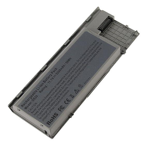 ARyee 5200mAh Batería del Ordenador portátil para DELL Latitude D620 D630 D630c D631 Precisión M2300 KD494 KD495 PD685 RC126 RD300 RD301 TC030 TD116 TD117 ...