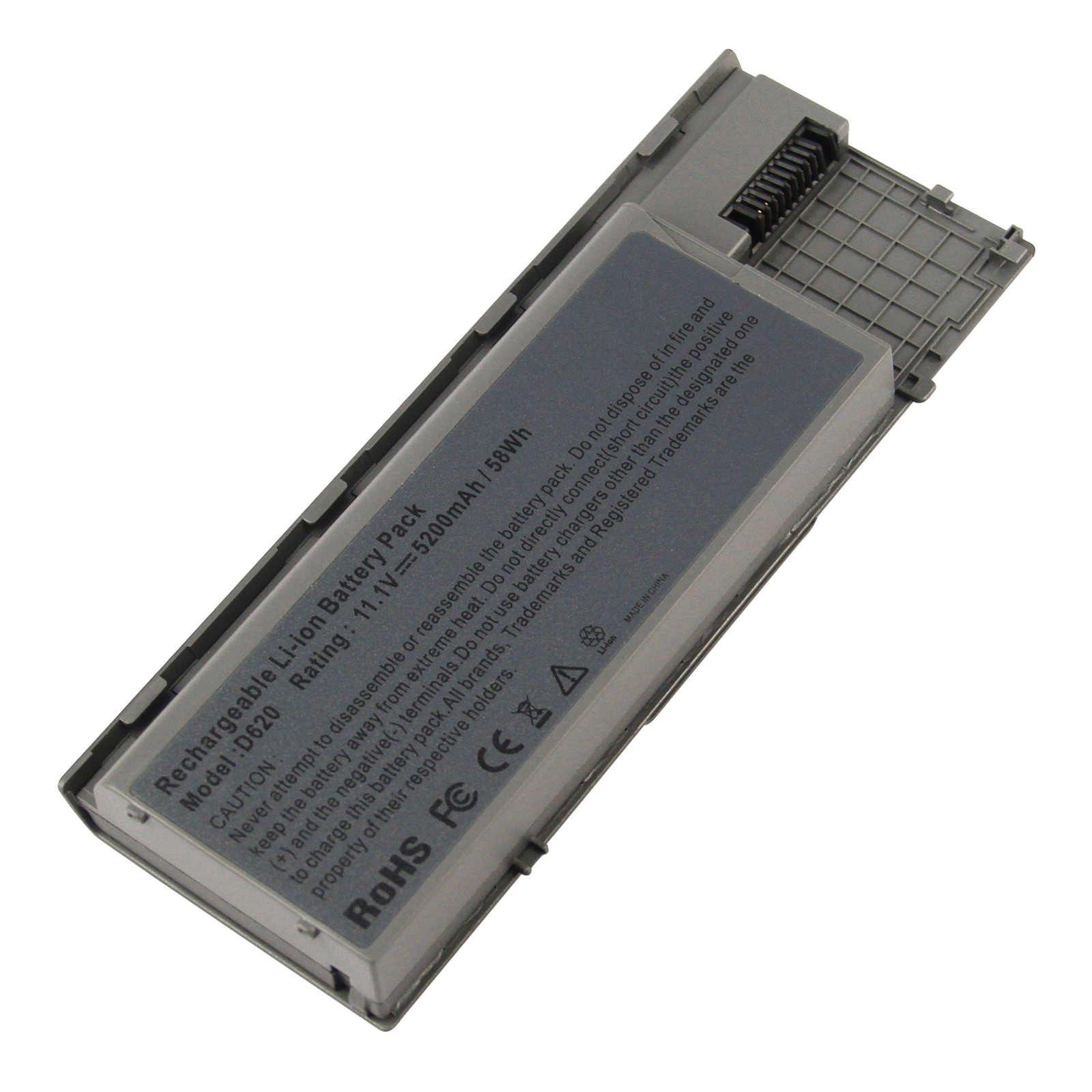 Bateria 5200mAh 11.1V para Dell Latitude D620 D630 D630c D630N D631 D631N D830N Precision M2300 PC764 PP18L