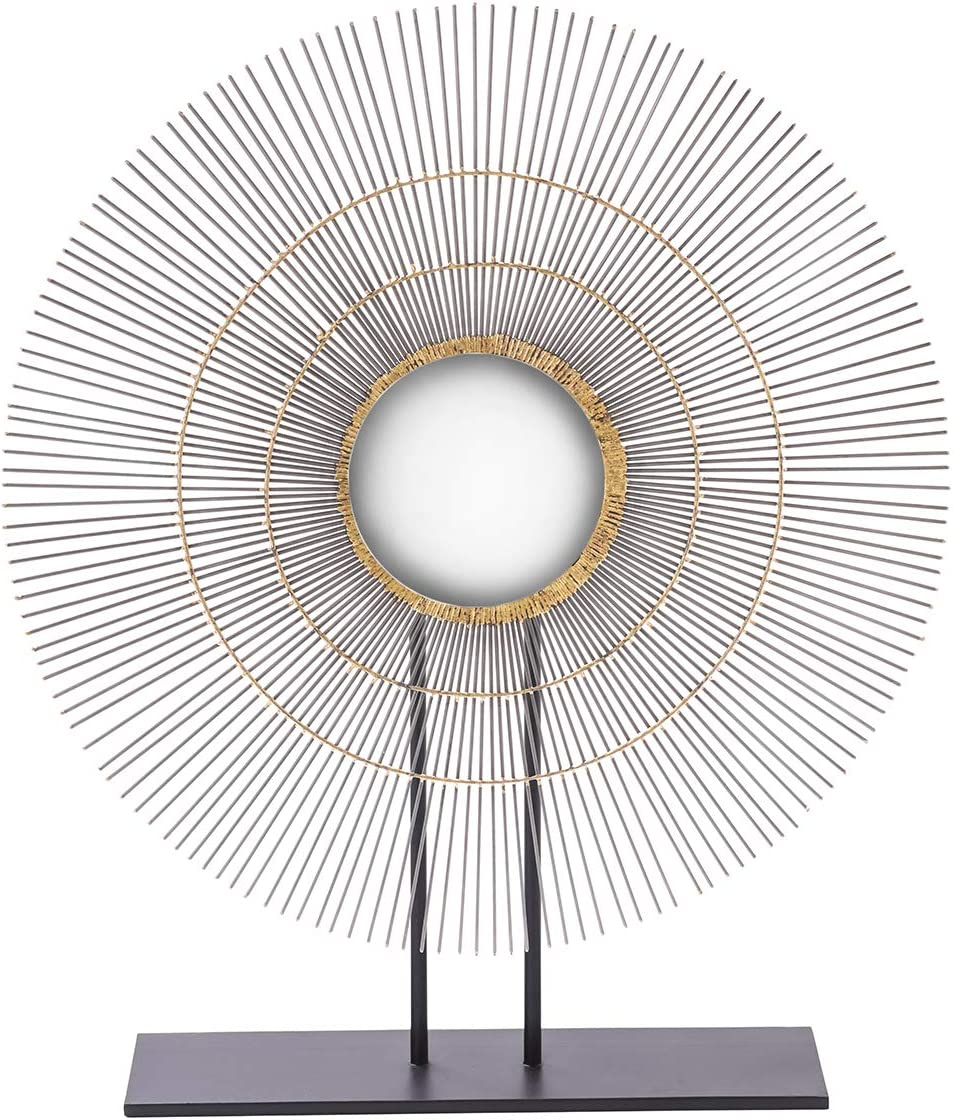 ELK Lighting 015526 Table top Sculpture, Mixed Metals, Black
