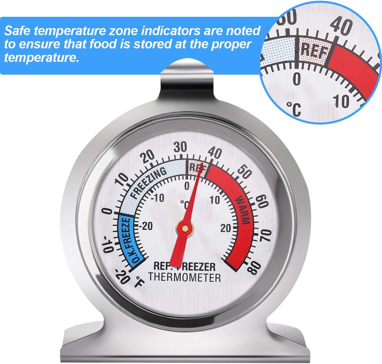 Gejoy K/ühlschrank Gefrierschrank Thermometer Klassisch Serie Gro/ß W/ählen Thermometer Temperatur Thermometer f/ür K/ühlschrank Gefrierschrank K/ühler 9