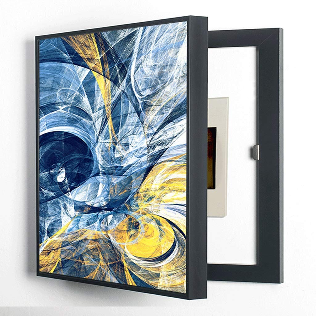 LIUDONGXIN Electric Meter Box Decorative Painting Without Punching Shield Distribution Box Creative Box Clamshell Box (Color : Black, Size : (4050cm 3040cm)) by LIUDONGXIN