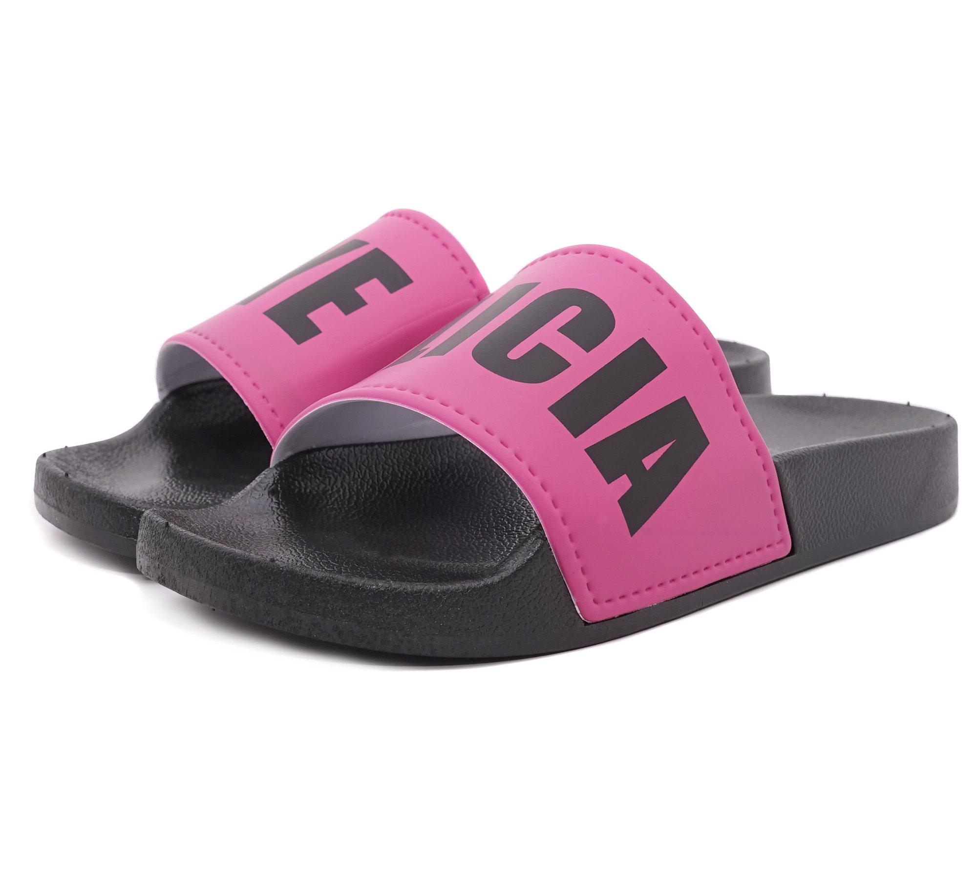 Charles Albert Word Pool Slide Verb Athletic Sandal (8, Bye Felicia Black)