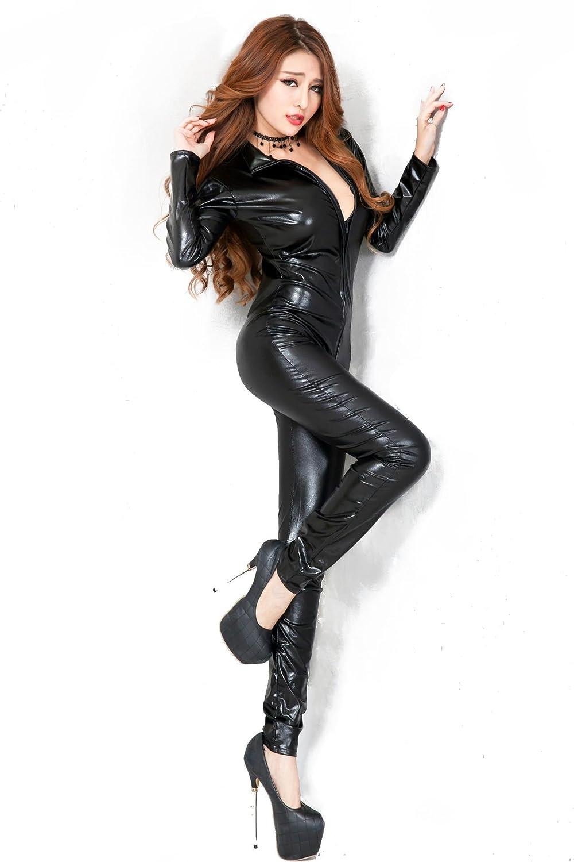 Future-YX Lencería Hot Women Prisoners feminidad imitación de cuero de una sola pieza de la blusa Wet Look Zipper Catsuit: Amazon.es: Deportes y aire libre