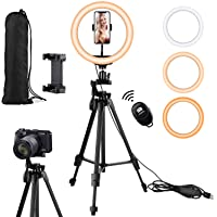 Eocean 10.2in Selfie Ring Light with 54in Tripod & Phone Holder for Tik Tok YouTube Live Stream Makeup, Led Ringlight…