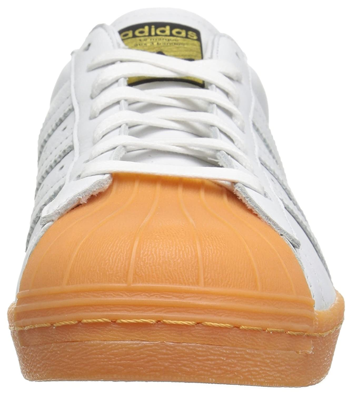 check out edbed 6b948 adidas Mens Superstar 80s DLX White/Gum Leather