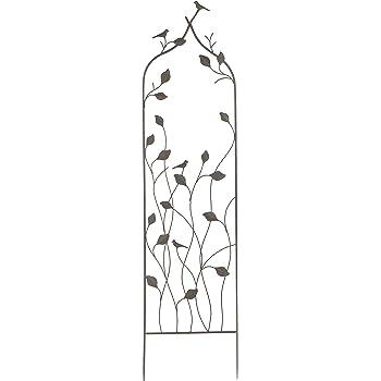 gardman r542 bird and branch metal trellis. Black Bedroom Furniture Sets. Home Design Ideas