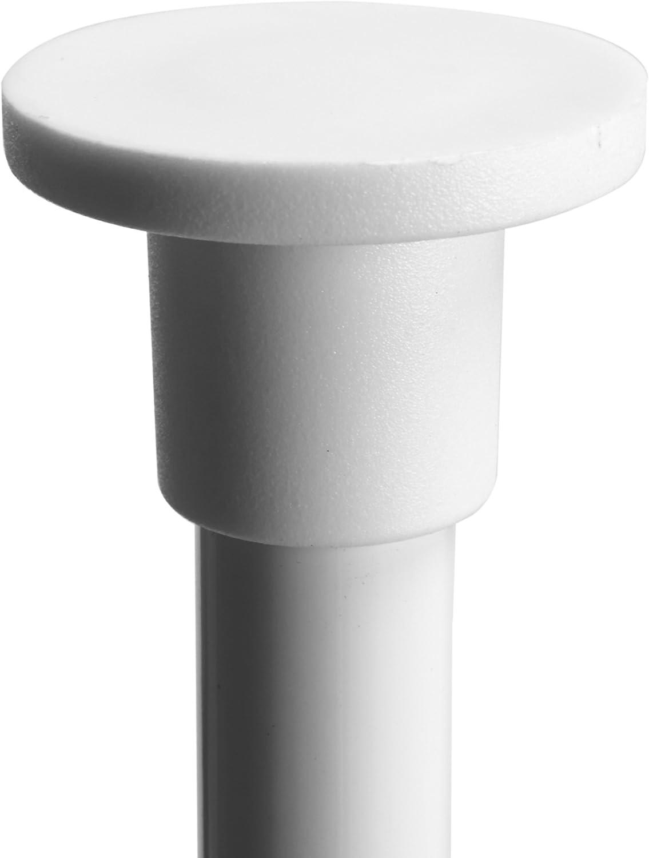 MSV 140605 Serviteur de Douche Plastique d Angle Auto-portee M/étal//Peinture Blanche Blanc
