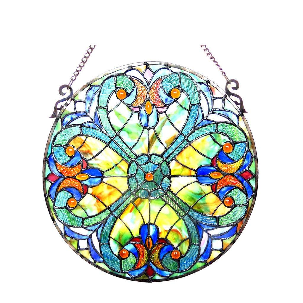 356e11774 Amazon.com: Chloe Tiffany Style Victorian Design Hanging Stained Glass  Window Suncatcher: Home & Kitchen