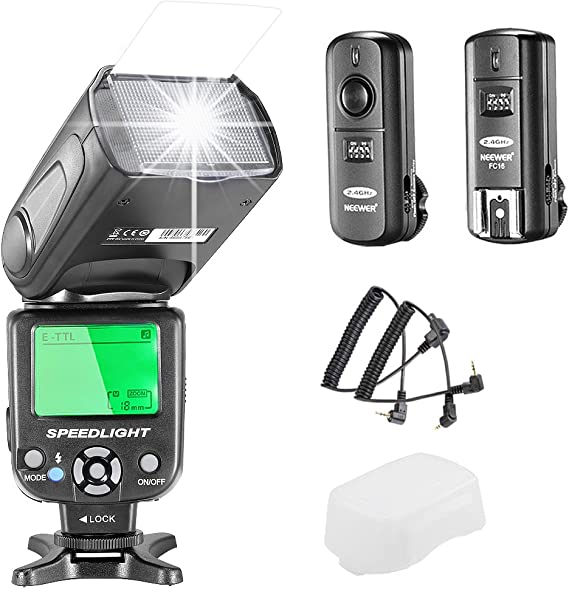 Neewer NW-562 E-TTL Flash Speedlite Kit para Canon DSLR con NW-562 ...