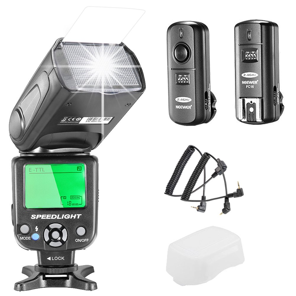 Neewer NW-562 i-TTL Flash Speedlite Kit for Nikon DSLR Camera, Kit Include:(1)NW-562 Flash+(1)2.4Ghz Wireless Trigger(1* Transmitter+1* Receiver)+(1)Microfiber Cleaning Cloth