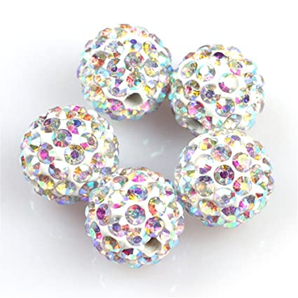 GEM-inside Lots Of Pave Shine Ab Tone 10MM Beads For Jewelry Making (10 bce42a18a0f2