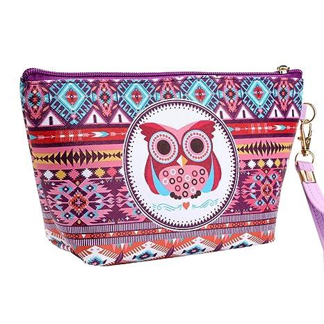 Tonpot Neceser para cosméticos, diseño de búhos, ideal para ...