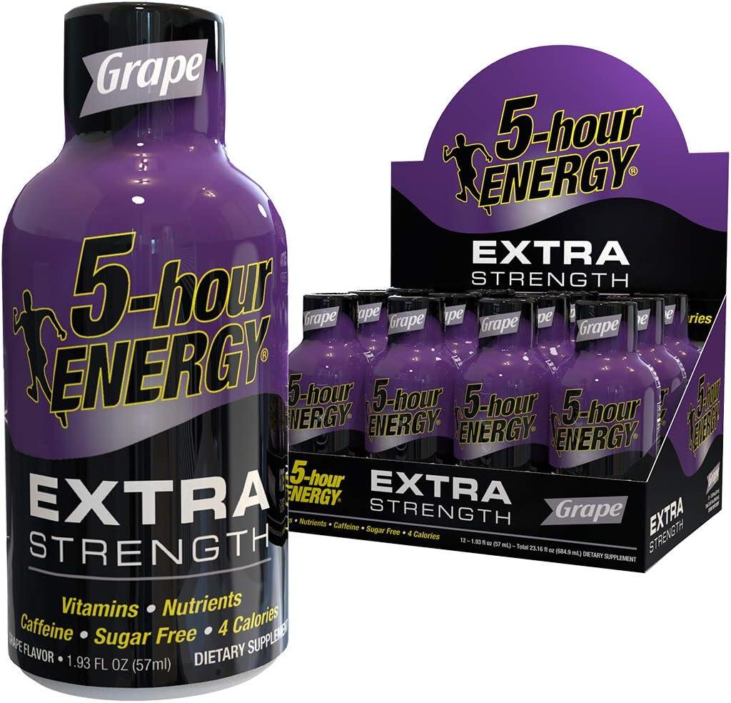 5-hour ENERGY Shot, Extra Strength, Grape, 1.93 Ounce, 12 Count