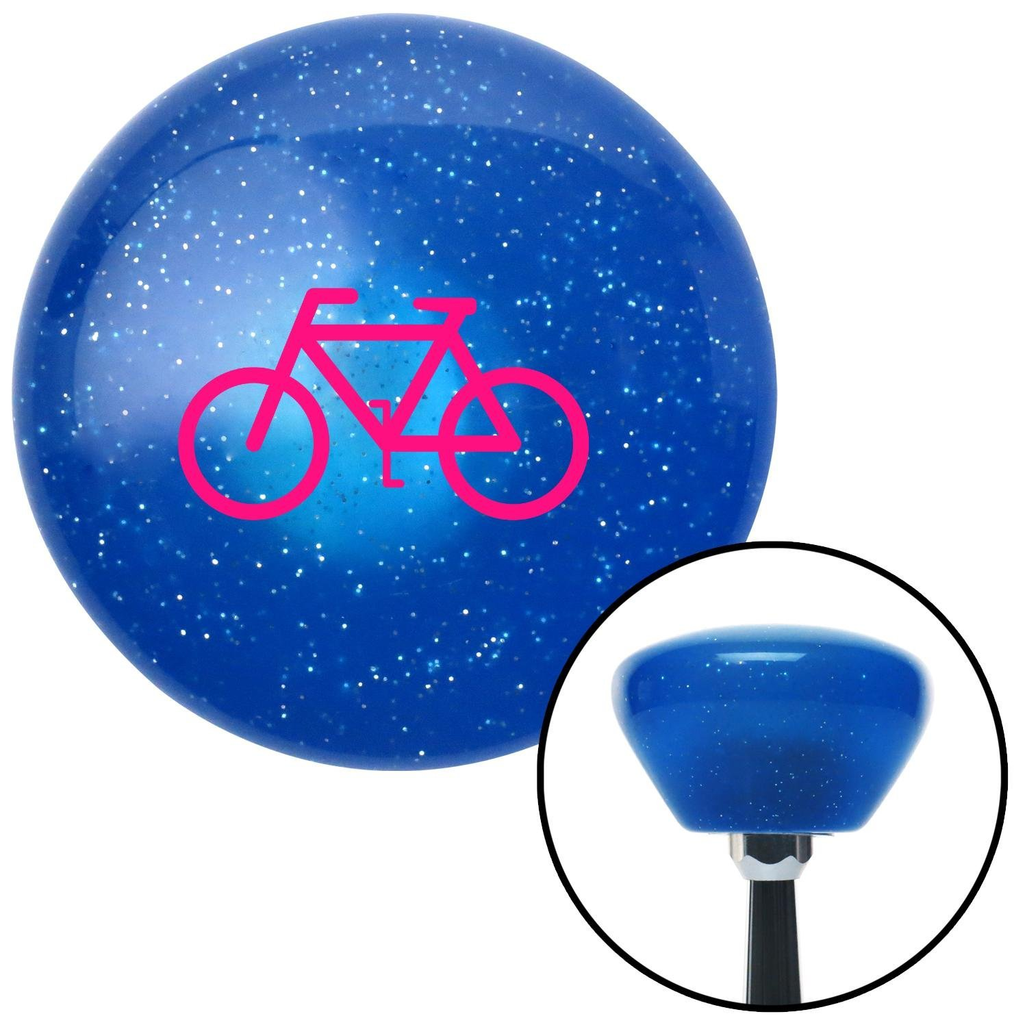 American Shifter 189038 Blue Retro Metal Flake Shift Knob with M16 x 1.5 Insert Pink Bicycle