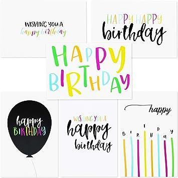 Amazon.com: 48 surtido de feliz cumpleaños tarjetas de ...