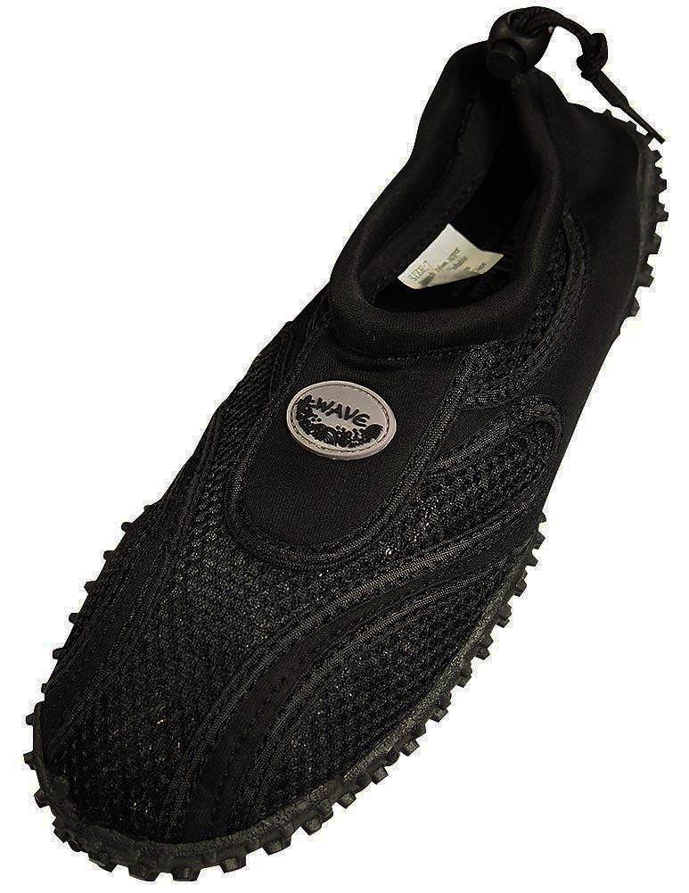 Easy USA Womens Aqua Wave Water Shoes (11, Black/Black)