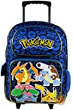 Grand trolley POKEMON bleu Disney PRIMAIRE sac a dos cartable