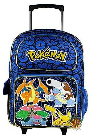 moins cher be90a 0729f Grand trolley POKEMON bleu Disney PRIMAIRE sac a dos cartable