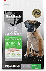 Black Hawk - Dry Puppy Food, Large Breed, Chicken and Rice, 20kg