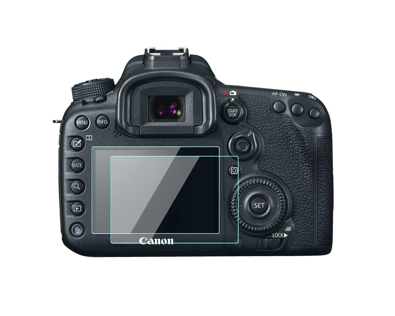 Canon EOS 77d/7d Mark II Protection d'écran LCD Foils 0, 33 mm d'épaisseur en verre trempé dureté 9H Couverture parfaite pour Canon EOS 77d/7d Mark II Digital Camera Lot de 2 Komet