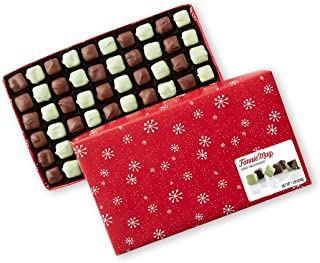 product image for Fannie May Holiday Wrap Mint Meltaways, Milk Chocolate and Pastel Candy with a Mint Chocolate Center, Christmas Candy Gift Box, 1 lb