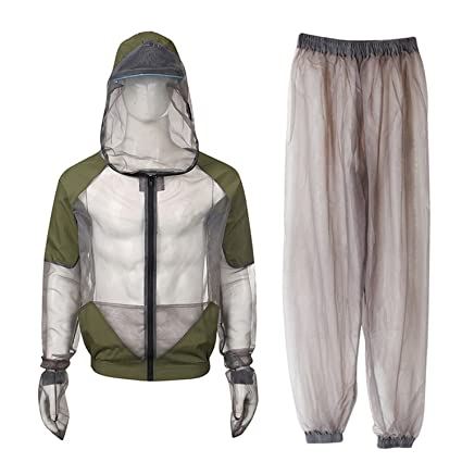 Amazon.com: Easy Big Bug Jacket Mosquito Suit - Traje de ...