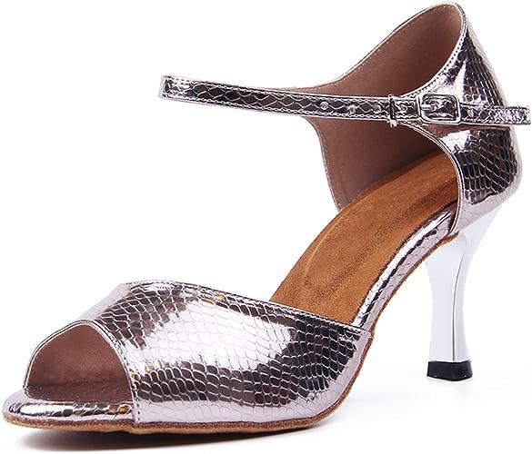 Women/'s Ballroom Latin Tango Salsa Tango Dance Shoes Heeled Dancing Shoes
