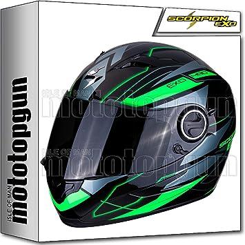 Amazon.es: MOTOTOPGUN 49 - 285 - 69 casco de Moto Integral Scorpion exo-490 Nova negro-verde S