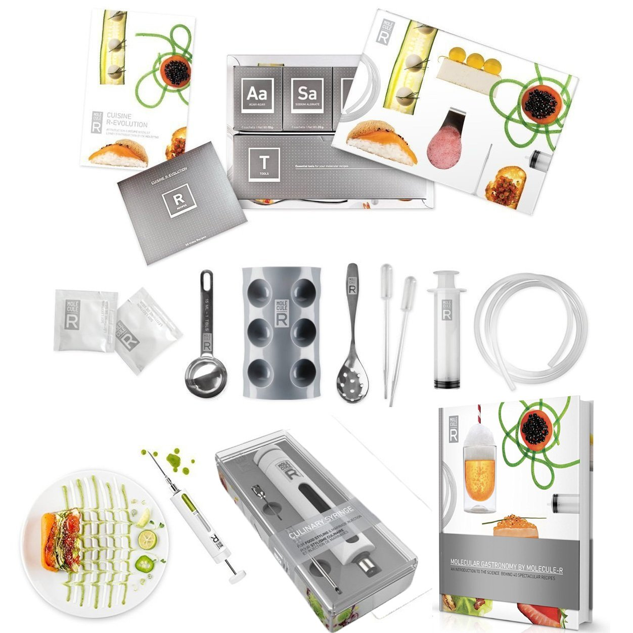 TRIPLE PACK Cuisine Molecular Gastronomy Kit, Book & Food ...