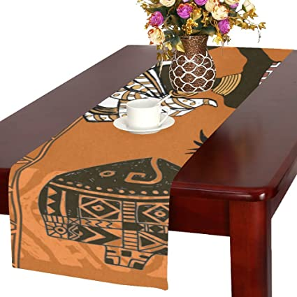 Attirant Happy More Custom African Woman Durable Cotton Linen Table Runner 14u0026quot;  ...