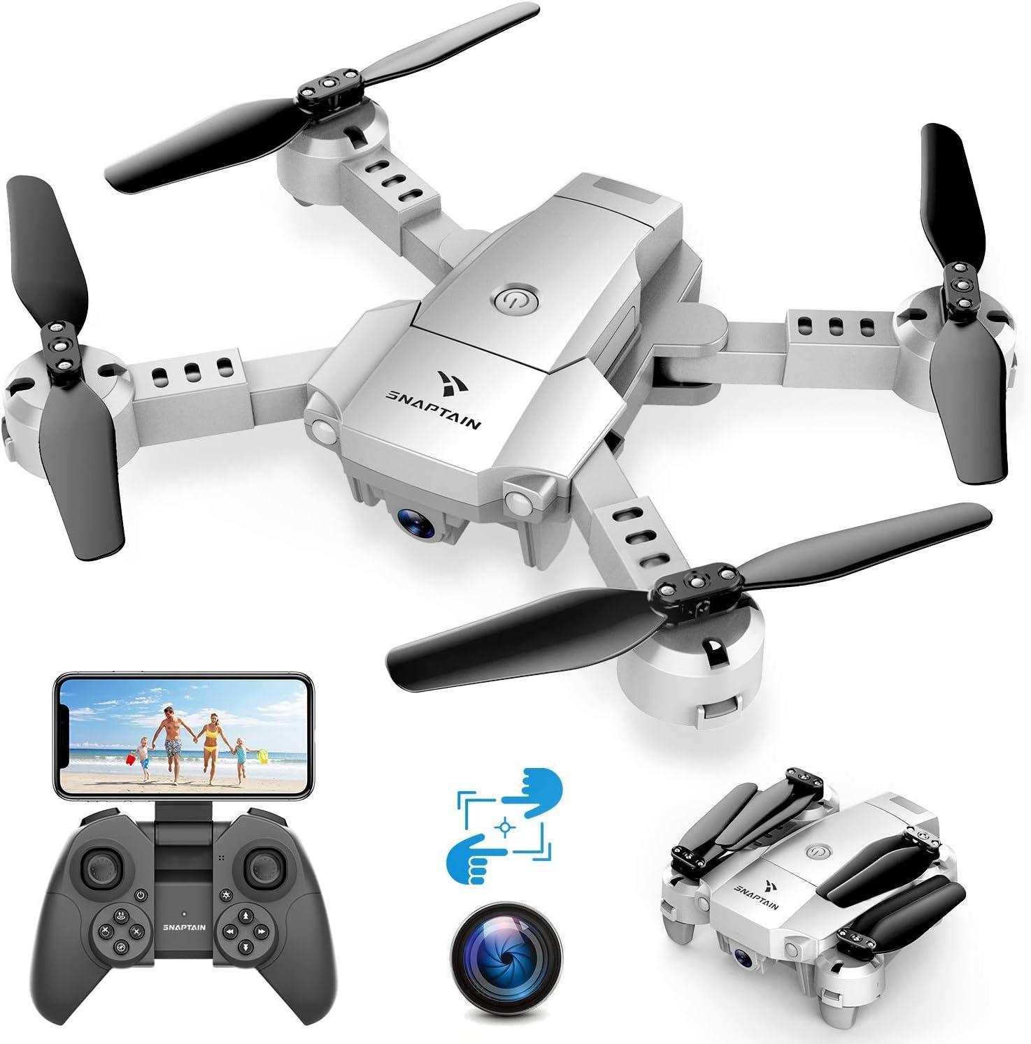 SNAPTAIN A10 720P Mini Drone con Telecamera HD Pieghevole FPV Controllo Vocale,