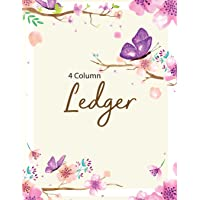 4 Column Ledger: Accounting Ledger Notebook for Small Business, Bookkeeping Ledger, Account Book, Accounting Journal Entry Book, 8.5 x 11 inches