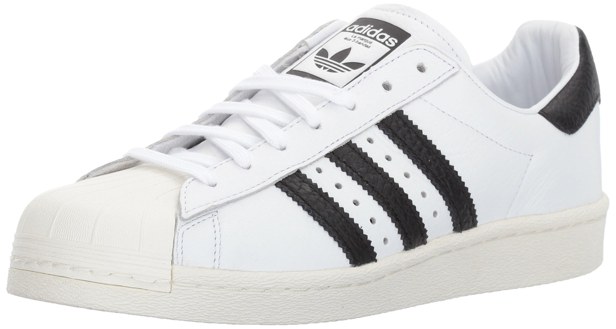 adidas Originals Men's Superstar Running Shoe, Black/White, 10.5 D(M) US