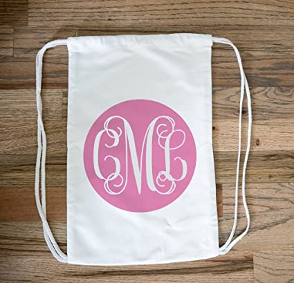61577eb8e598 Amazon.com  Personalized Drawstring Bag for Girls