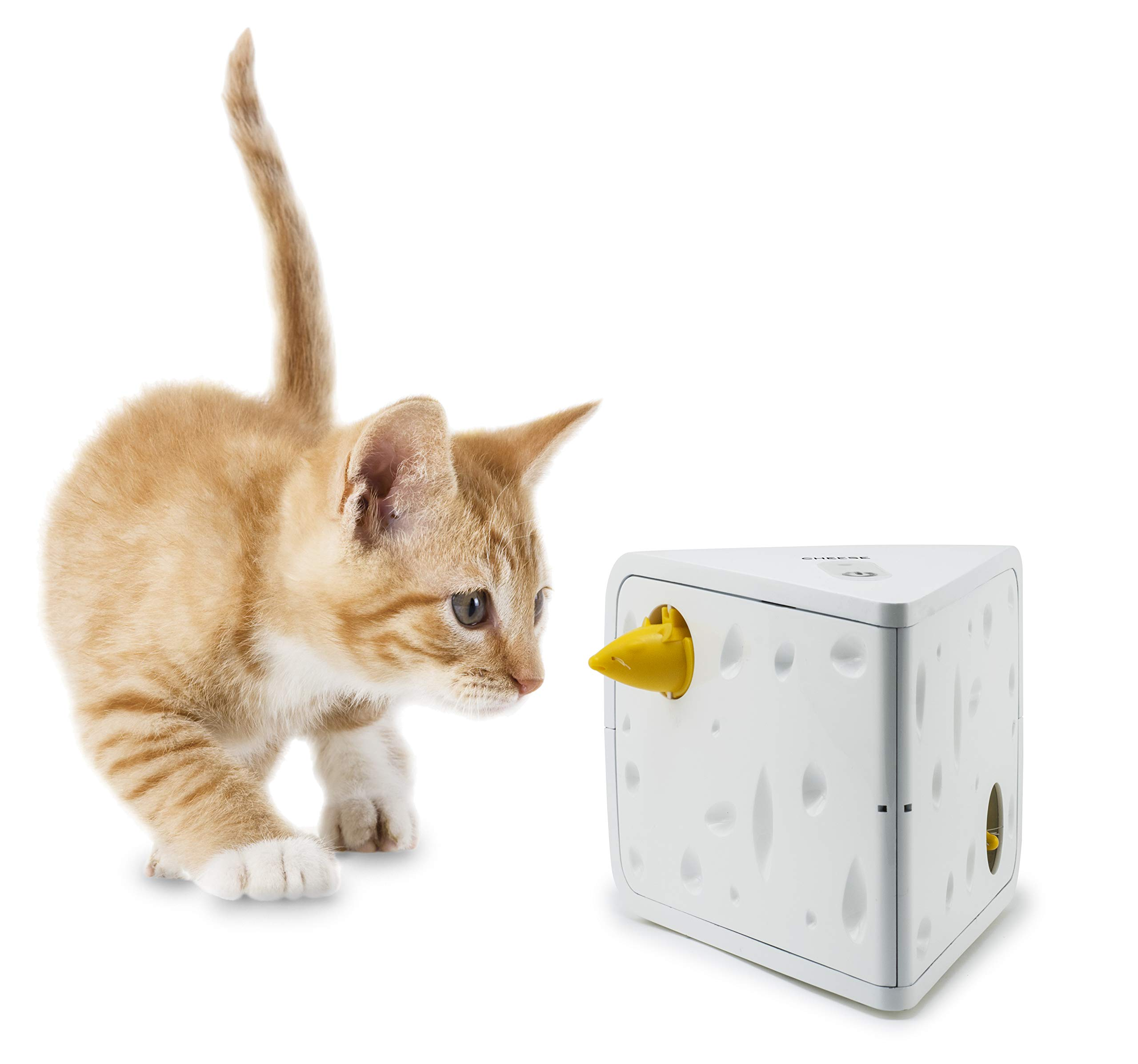 PetSafe Automatic Cheese Cat Toy, Interactive Electronic Mouse Hunt, Durable Toy with Multiple Play Modes, Fun for Kittens to Pounce and Play by PetSafe