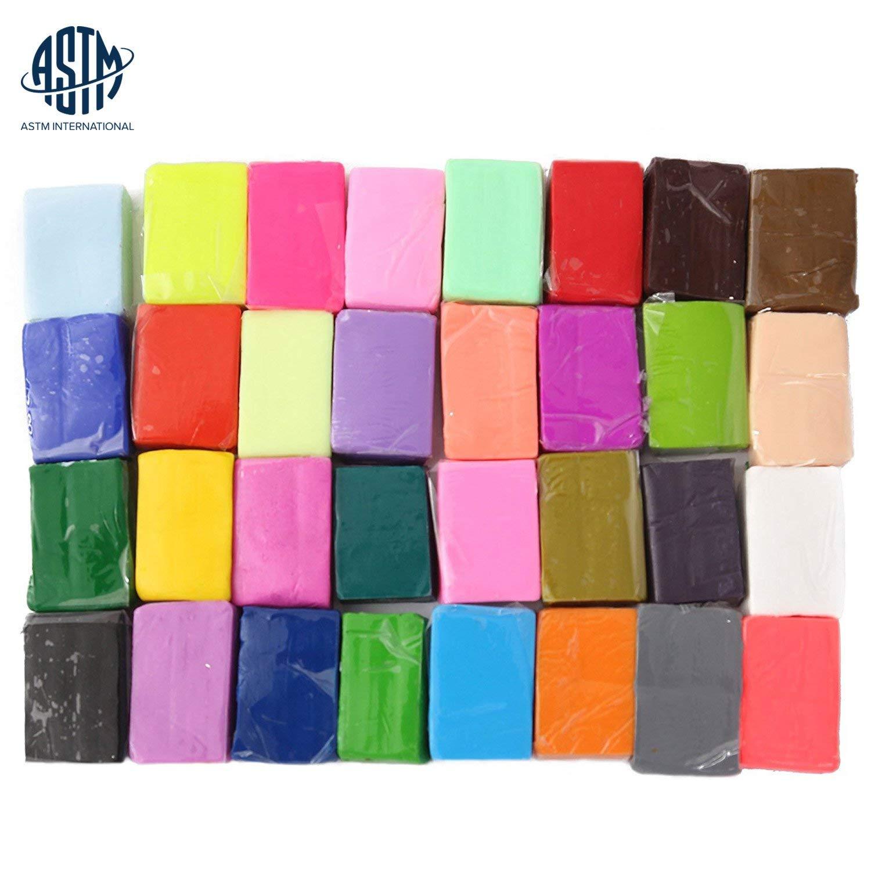 Liyuan 32 colores arcilla polimérica, DIY Colorful efecto horno ...
