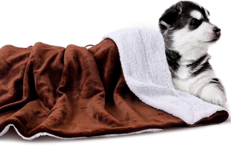 Lavable Manta para Perros y Gatos Suave PETTOM Impermeable a Cuadros 150x127 cm para Cama y sof/á Esponjoso Grueso