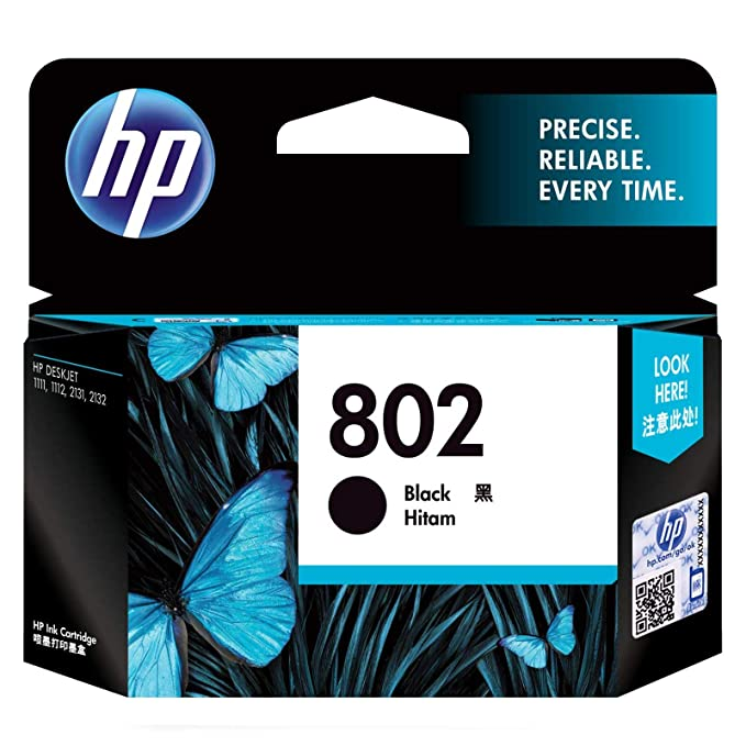 HP 802 Small Ink Cartridge   Black